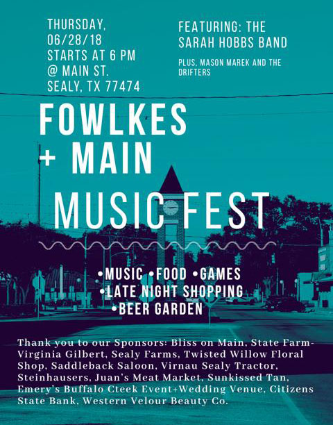 Fowlkes & Main Music Fest Sealy
