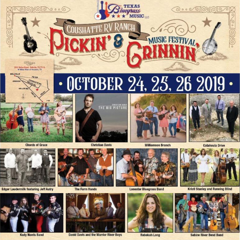 Pickin' & Grinnin' Festival at Coshatte RV Ranch