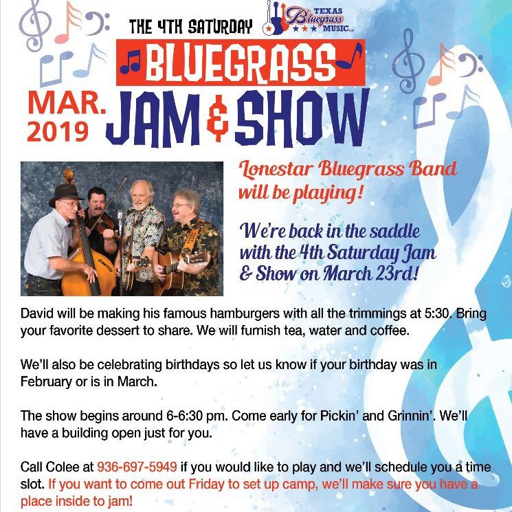 Bluegrass Jam & Show at Coshatte RV Ranch