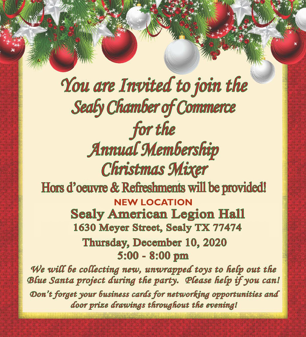 Christmas Mixer Sealy Chamber