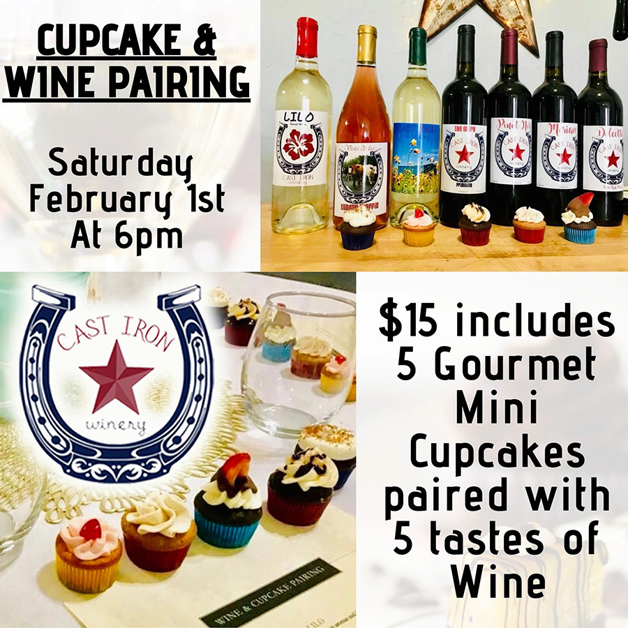 Cast Iron Winery Cupcake & Wine Pairing