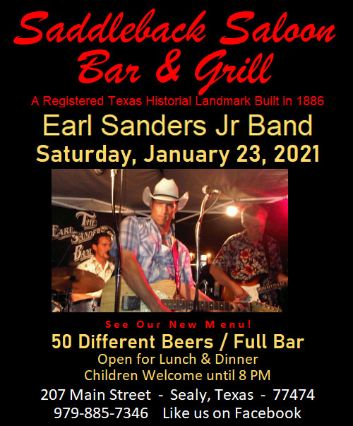 Saddleback Saloon Earl Sanders Jr Band