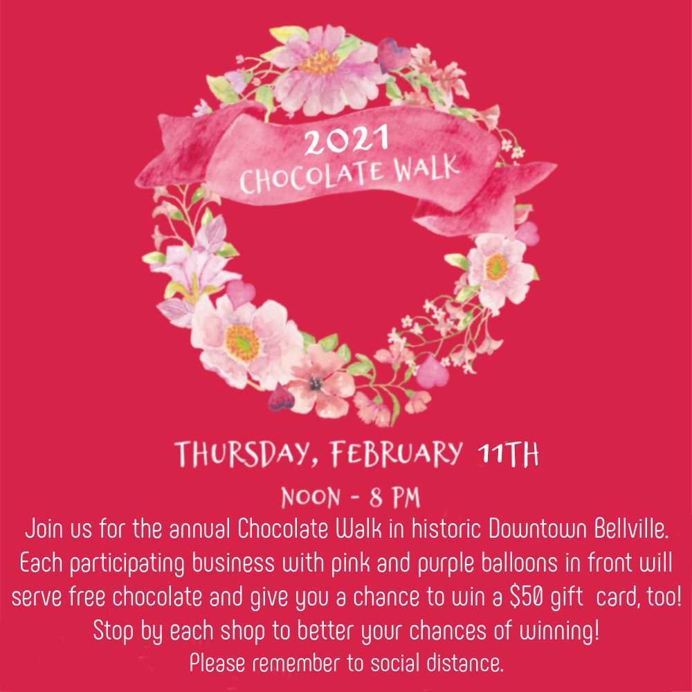 Chocolate Walk in Downtown Bellville