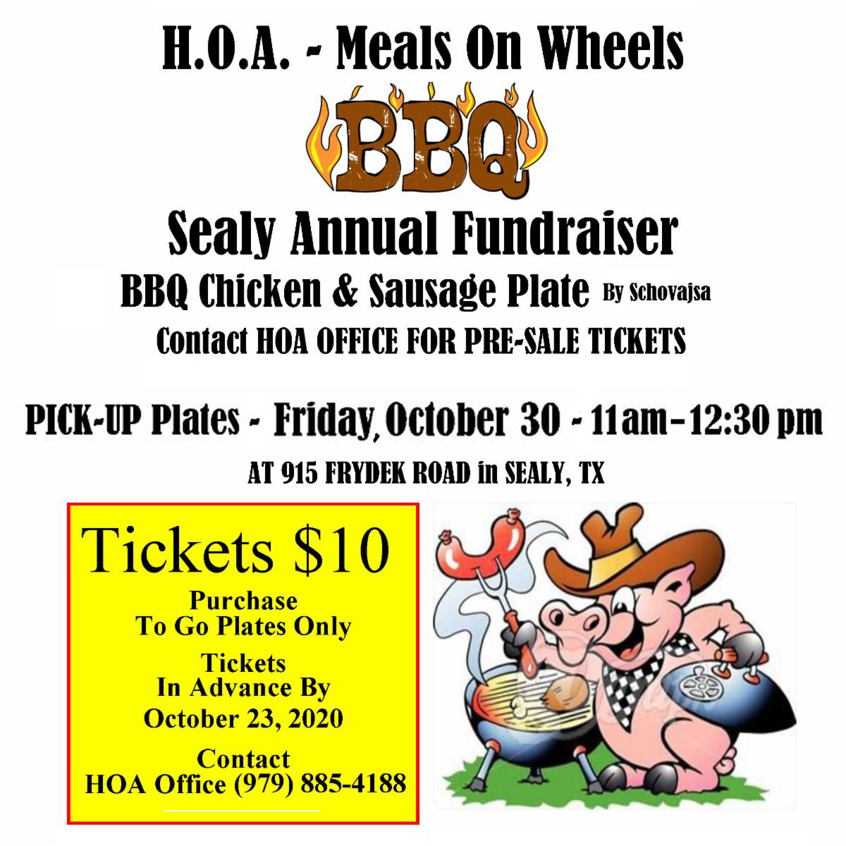 HOA Meals on Wheels BBQ Fundraiser