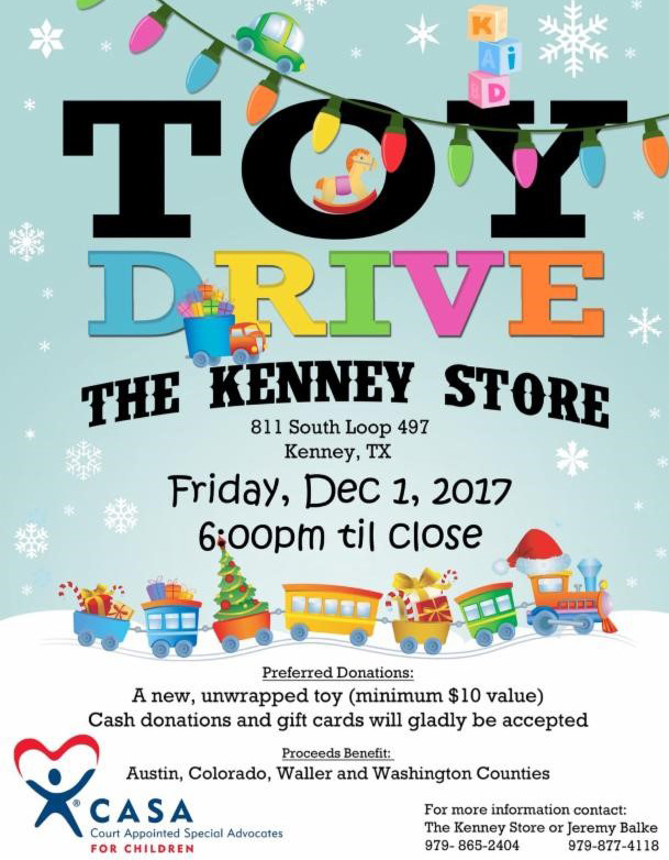 Toy Drive Kenney Store